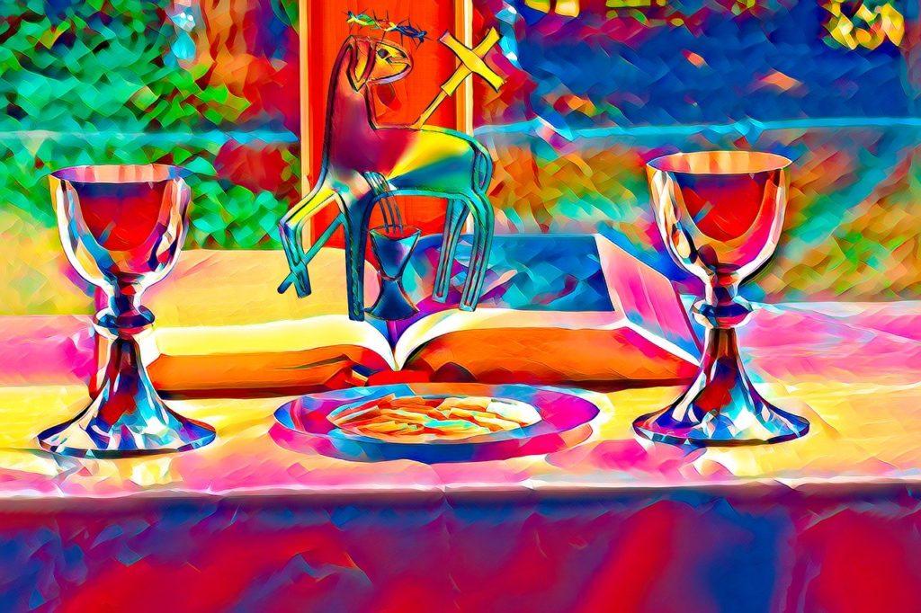chalices, lamb, god