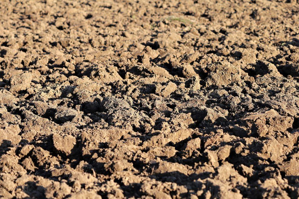 plowed earth, soil, brown