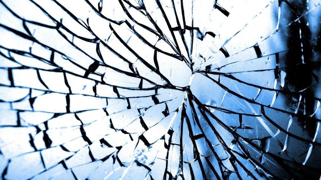glass, crack, broken